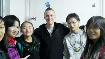 Meeting new friends in the Forstry University Beijing