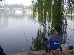Fishing at houhai,Beijing